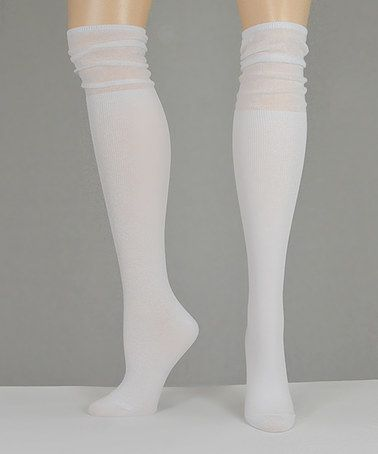 This White Slouchy Over-the-Knee Socks is perfect! #zulilyfinds