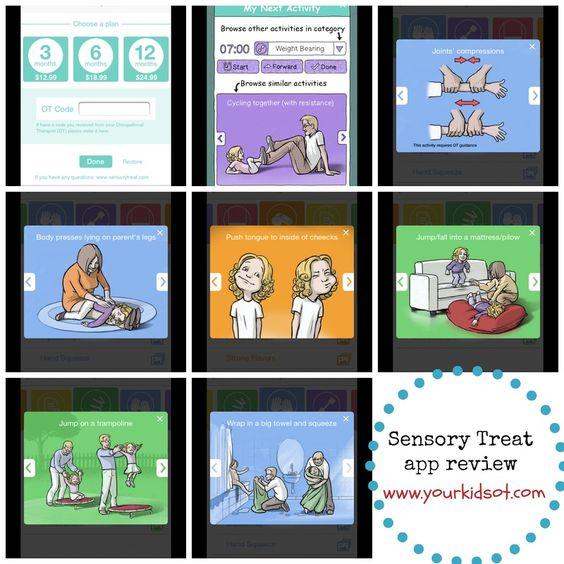 App voor sensorisch dieet met veel mogelijkheden: inplannen activiteiten, waarschuwing signaal, keuze uit activiteitenlijsten, zelf activiteiten toevoegen, reactie van je kind registreren na activiteit etc.