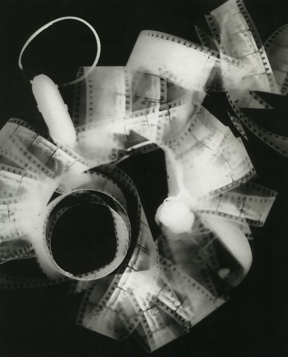 Man Ray photogram I could use the film in my own photograms as they let some light through allowing the photo to be seen