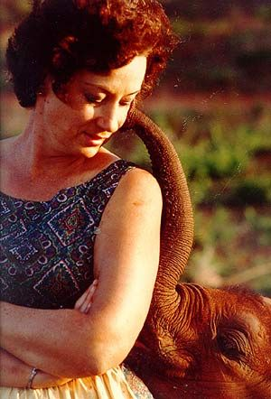 Dame Daphne Sheldrick of the Sheldrick Wildlife Trust. Has saved so many orphaned elephants that were orphaned as a result of the ivory trade.