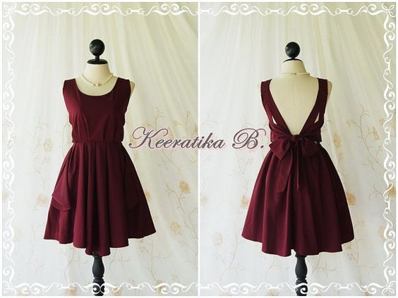 Maroon dress red dress maroon party dress dark red prom dress ...