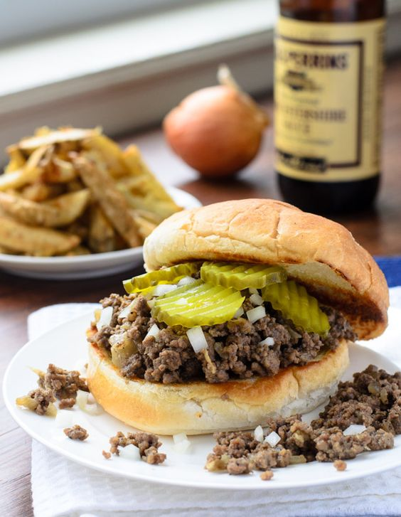 Iowa Loose Meat Sandwich is quick, easy and very tasty!- The Spice Kit Recipes (www.thespicekitrecipes.com)