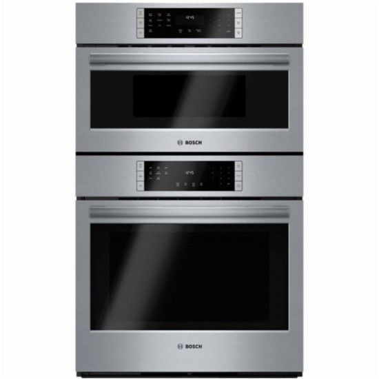 Bosch 800 Series 30 Single Electric Convection Wall Oven With Built In Microwave Stainless Steel Front Zoo Combination Oven Wall Oven Electric Wall Oven