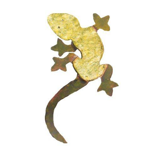 Ancient Graffiti Ceramic Gecko Wall Mount by Ancient Graffiti. $26.00. Measures 14-inch x 9-inch w. Nature-inspired gifts. Creates an artistic blending of your style and garden environment. Created using natural materials. Ancient Graffiti ceramic gecko wall mount. This nature-inspired gift and accessory for your garden is created using natural materials. Handcrafted to create an item that is handsome, built to last, and of good value. This item is made using honest materi...