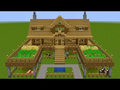 Shock Frost Youtube Minecraft Farm Easy Minecraft Houses Minecraft Buildings