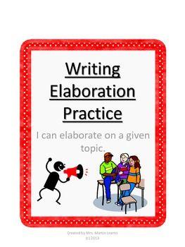 elaboration essay writing