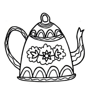 Gourmet Rubber Stamps Cling Stamps - Coffee Pot | Happy Crafting | Blitsy