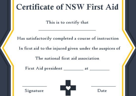 Pin On First Aid Certificate