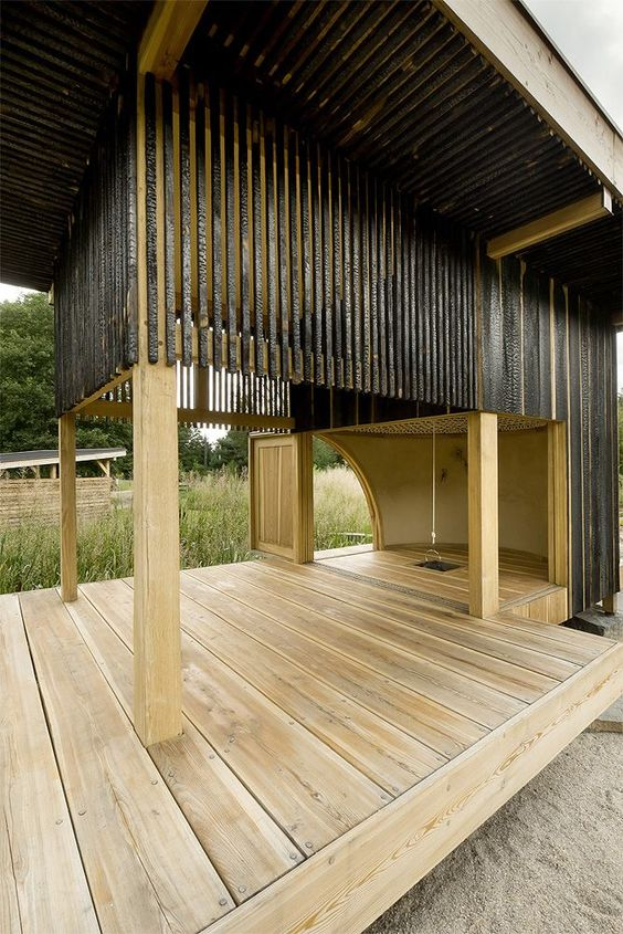 outdoor room / Tea House by A1Architects @Mette Aamodt