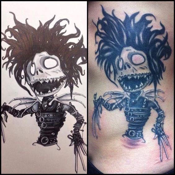 Edward Scissor Hand/jack Skellington Tattoo