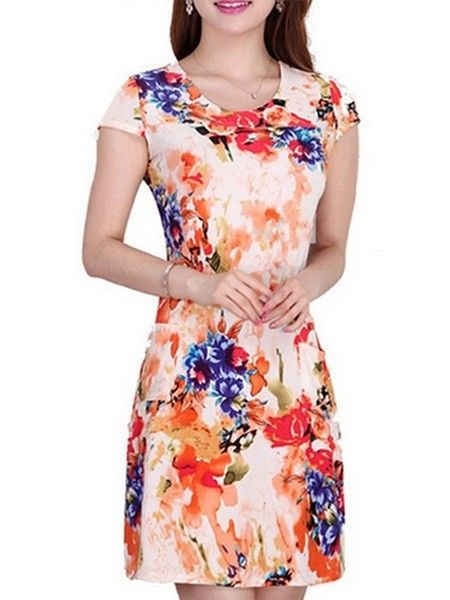 Charming   Floral Printed Bodycon-dress Bodycon Dresses from fashionmia.com