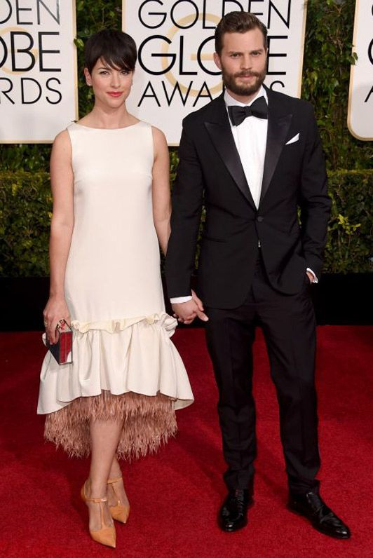 Amelie Warner with husband Jamie Dornan. Golden Globes: Best supporting WAGs steal the show - Telegraph