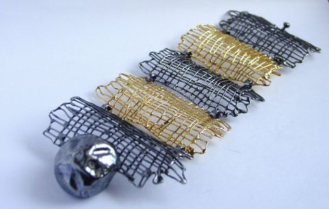 BRACELET,II,-,gold,plated,sterling,silver,Sterling Silver Bracelet, Gold plated Bracelet, Handmade Silver Earrings, Handmade Jewellery, Ster...