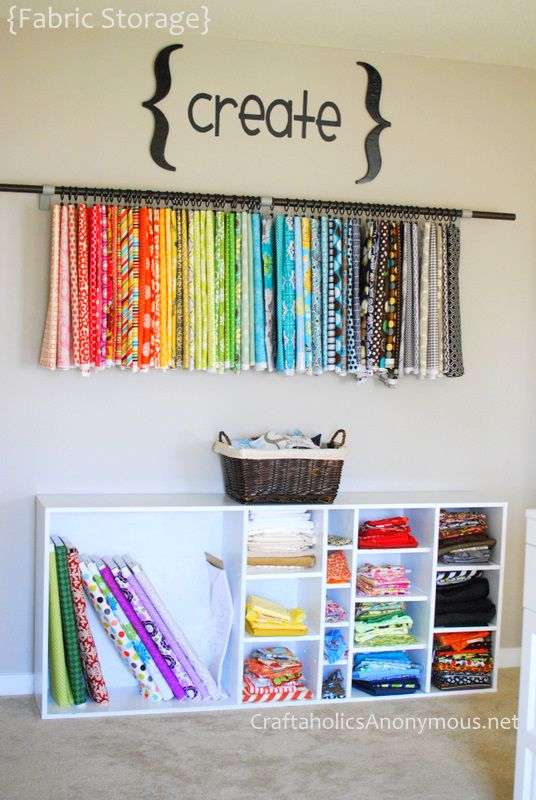 ideas for storing and organizing fabric