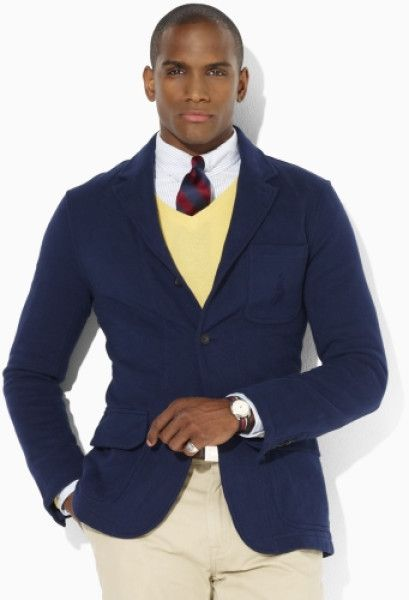Polo Ralph Lauren Blue Fleece Big Pony Blazer