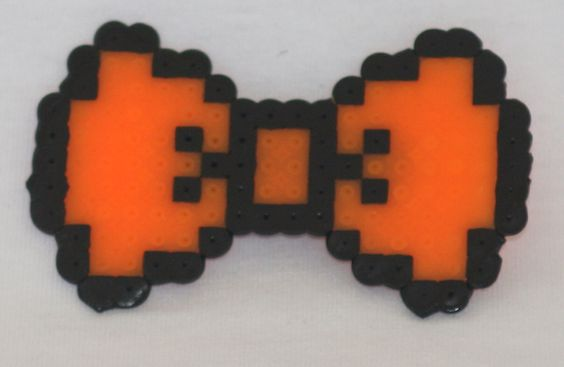 8-bit black and orange halloween hair bow - available on therubypig.com