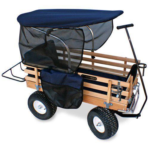 Bit Foot All Terrain Wagon w// Wood Railing Red Off Road Childrens Kids FREE SHIP