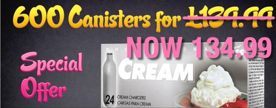 Buy 600 Cream Canisters for just £134.99