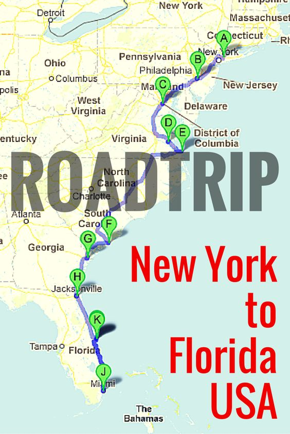 road trip along the east coast of usa oder trips and cars