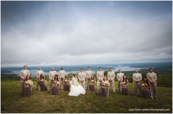 whitney mountain lodge large wedding party northwest arkansas