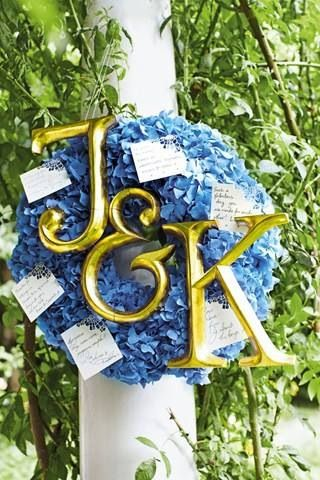 J and k floral wreath