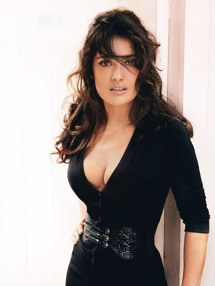Salma Hayek, same height,  similar bust size now to get it all tight like my girl Salma!