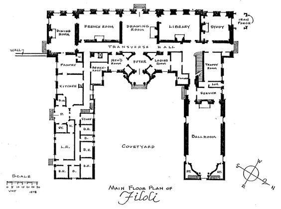 Image Result For Filoli Blueprints Mansion Floor Plan Floor Plans Mansion Plans