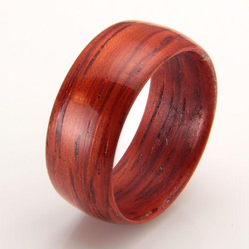 Padauk wood ring. Custom designs.
