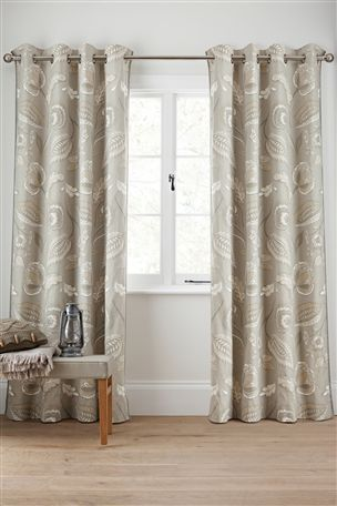 Buy Smart Artisan Eyelet Curtains from the Next UK online shop ...