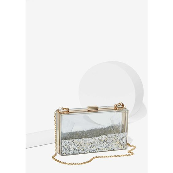 Skinnydip London Crystal Clear Crossbody Bag ($45) ❤ liked on Polyvore featuring bags, handbags, shoulder bags, multi, imitation purses, clear purse, crossbody handbags, clear crossbody e chain strap purse