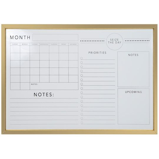 Find The Gold Wall Calendar Memo Dry Erase Board By Ashland At