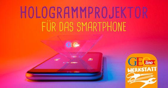 Baut euch einen Hologramm-Projektor, um mit eurem Smartphone ein Hologramm im Raum erscheinen zu lassen! Hier gibt es die Bastelanleitung. ganz einfach, ausprobieren - http://www.geo.de/geolino/basteln/14815-rtkl-experiment-baut-euch-einen-hologramm-projektor?utm_source=Facebook&utm_medium=Post&utm_campaign=Hologramm-basteln
