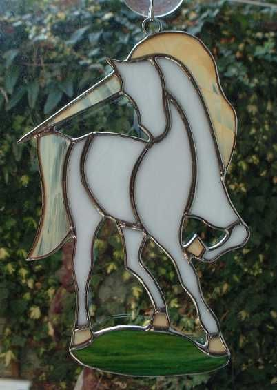 unicorn~stain glass