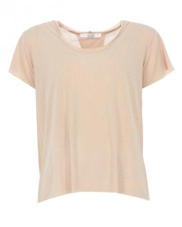 Baryluk BLN T-Shirt mit offenem Rücken Beige