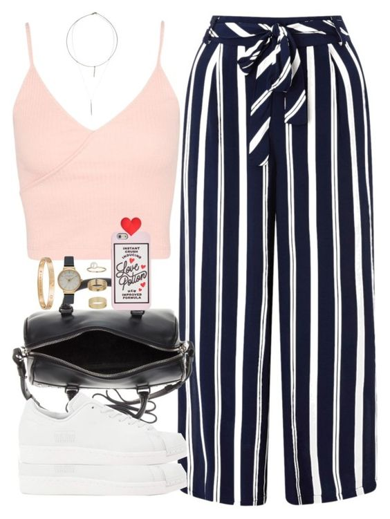 """""""simple ~"""" by ohsnapitzblanca ❤ liked on Polyvore featuring Topshop, Monsoon, adidas Originals, Yves Saint Laurent, ban.do, Olivia Burton, Cartier, Miss Selfridge, ADORNIA and StreetStyle"""