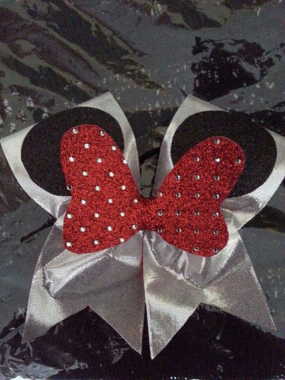 Disney Inspired Cheer Bow by GlamourBowsByAnna on Etsy