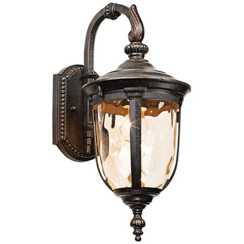Black Coral Acclaim 39222BC Capri Collection 3-Light Outdoor Light Fixture Wall Lantern