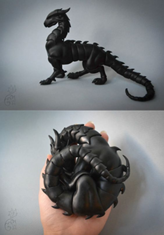 Articulated Dragon figure/toy, custom made (and available in all different colors) for about $300. Amazing!   (More info at the link - but you'll have to use Google translate; it's in Russian.)
