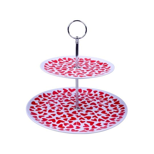 Red Hearts 2 Tier Cake Stand By Celebrate It Michaels Tiered