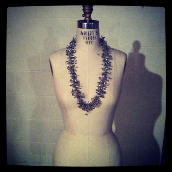 Safety Pin Necklace by kellyking89 on Etsy, $28.00