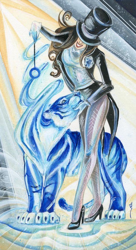 Tarot Superheroes Villains Other Comic Book Characters: Queen Of Wands (Zatanna), Justice League