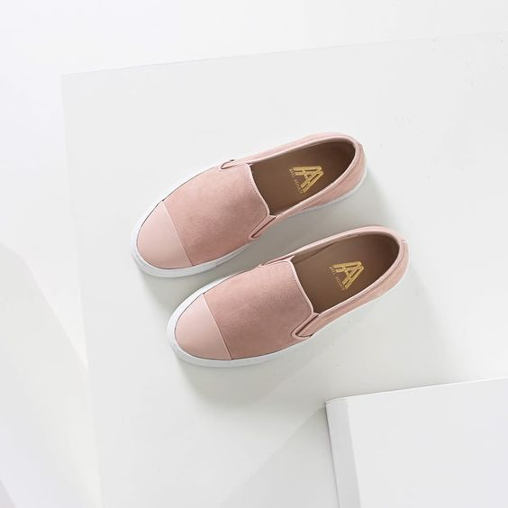 Slip-on Cap-toe - Nude suede with leather toe by Axel Arigato   Spring - Free Shipping. On Everything
