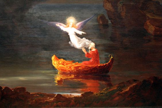 Thomas Cole, The Voyage of Life: Old Age, 1840, detail