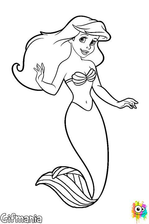 #sirenita #ariel #disney #dibujo  Dibujos Miriam 1 ...