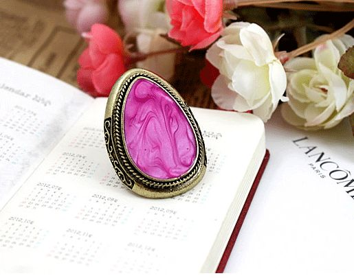 Color Impression Adjustable Vintage Style Ring from LilyFair Jewelry, $9.99