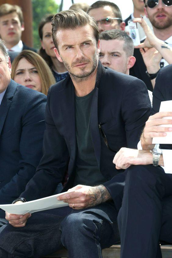 David Beckham at Louis Vuitton Men's Spring-Summer 2014 show in Paris