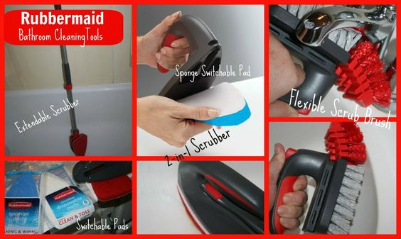 Rubbermaid Bathroom Cleaning Tools- fun review on the new products