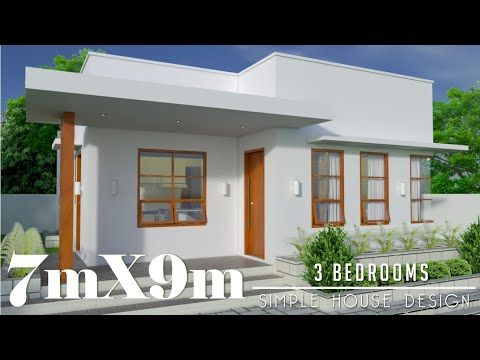 7mx9m 63sq M 3 Bedrooms Simple House Design Subscriber S Request Youtube House Construction Plan Simple House Beautiful House Plans