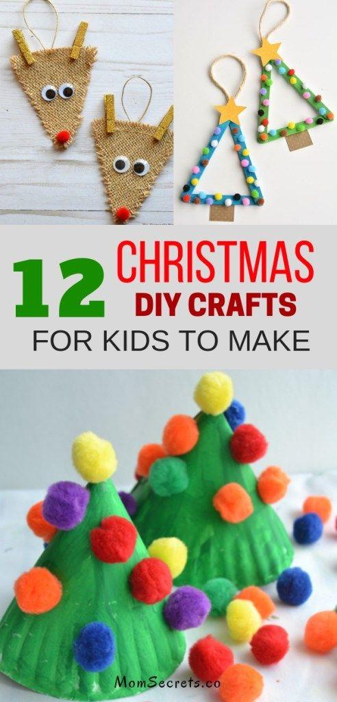 12 Christmas Crafts DIY For Kids \u0026 Parents To Make