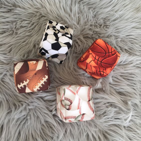Soft Stackable Blocks- Sports Collection by MunchkinLaneBoutique on Etsy